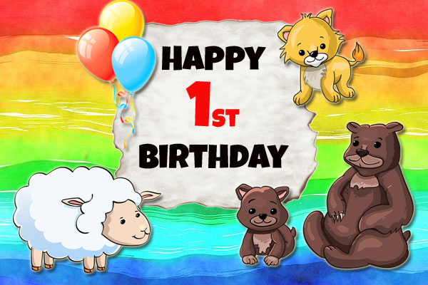 Animals bring wishes for 1st Birthday