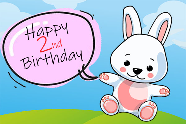 Funny cure bunny for 2nd Birthday