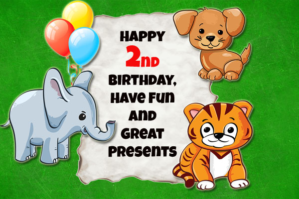 Sweet little animals for birthday wishes