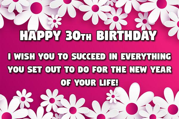 30th Birthday Wish for Women