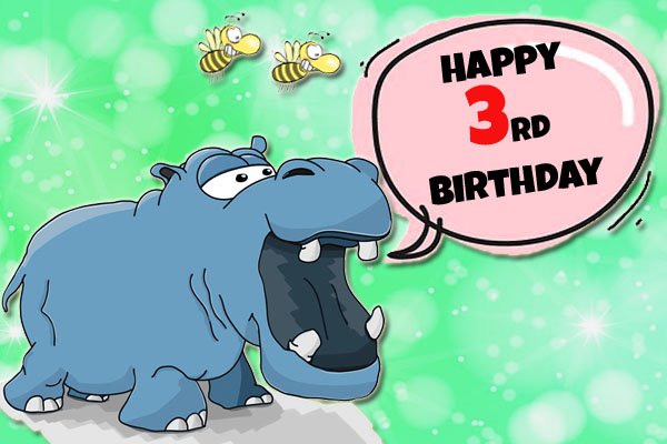 Funny picture for 3rd birthday