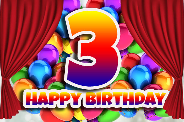Happy 3rd Birthday Wishes for WhatsApp