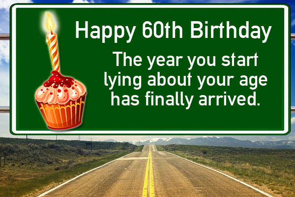 Funny 60th Birthday Wish