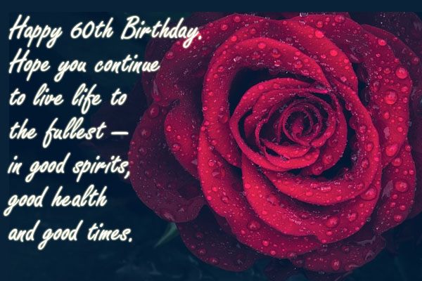 Inspiration 60th Birthday saying