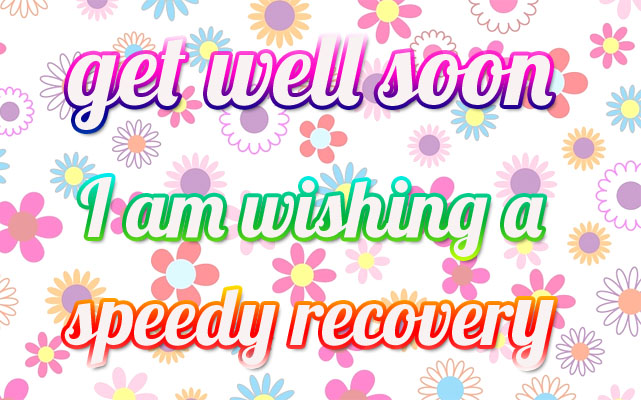 Get Well Soon with flowers