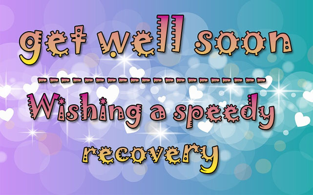 Get Well Soon Image with Text