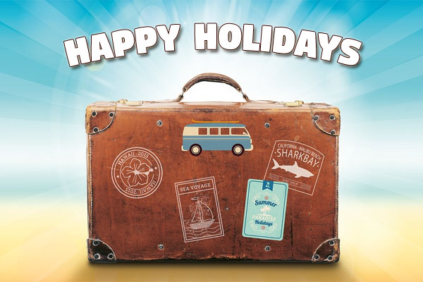 Happy Holidays with Suitcase